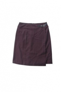 China Ladies' Stripe Wrap A Line Over Skirt With Zipper on sale