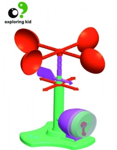 China Anemometer Experiment For DIY Science Educational Kits ABS on sale