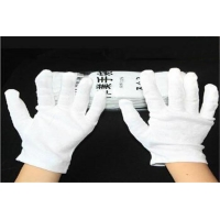 China white cotton work gloves safety gloves thickening 100 cotton gloves 12 pieces in one pack on sale