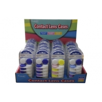 Cheap Sweet And Colorful Contact Lens Double Cases Custom Design Round Shape Contact Lens Case