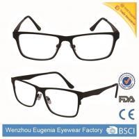 China Reading Glasses Black Steel Frame Mirror Lens Square Shape For Men on sale