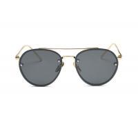Metal Sunglasses Mirrored Lenses Street Fashion Metal Frame Women Polygonal Sunglasses