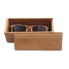 China China Wholesale Custom Logo Hand Polished bamboo Glasses Case with Private Logo for sale