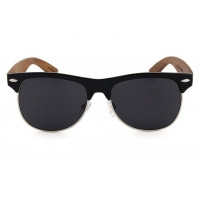 Wooden temple sunglasses retro engraved handmade sunglasses with reflective lens