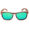 China 2017 Wooden Sunglasses Green REVO mirror Spring Hinge for sale