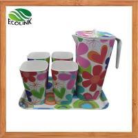 China Bamboo Fiber Water Cup Pot Tray Drink Set Bamboo Fiber Drink Set on sale