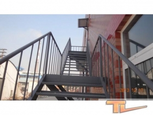 China Steel structure stairs on sale