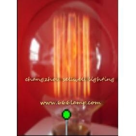 China NEW!220V 40W E27 G80X120 yellow feet clear light bulb Edison bulb lamp AD018 on sale
