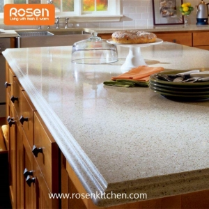 China Affordable Stone Quartz Kitchen Island Painting Countertops on sale