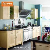 Wood Shaker Natural Varnish Design for Cherry Wood Kitchen Cabinets