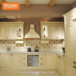 China Contemporary Popular Farmhouse Light Vantage Kitchen Cabinets on sale