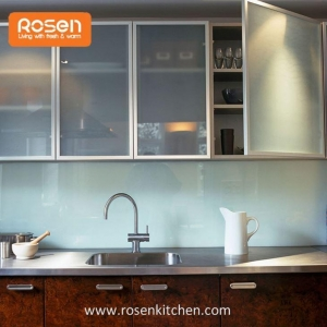 China Frosted Glass Inserts Doors Front for Kitchen Cabinets on sale