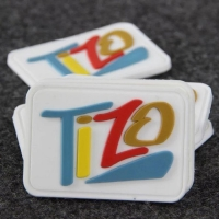China Custom Transparent 3D Logo PVC Rubber Label on sale