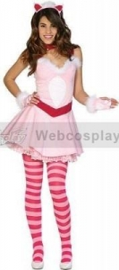 China The Cheshire Kitten Adult Alice Cosplay Costume(WEAC0004) on sale