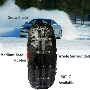 China Studded Snow Chain spike Belt For the winter time on sale