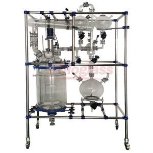 China High Borosilicate Glass 3.3 Multi Purpose Process Reactor System for Lab Scale and Pilot Plants on sale