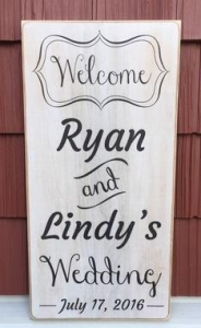 China ANNIVERSARY & WEDDING SIGNS Rustic Wood Sign - Welcome Sign for Wedding - 12 x 24 on sale
