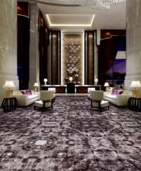 China Floral Nylon 3D Printed Carpet Wall To Wall Fireproof For Hotel,Banquet hall on sale