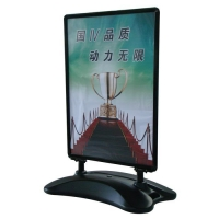 A0-black outdoor poster stand