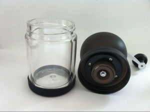 China glass housing coffee grinder on sale