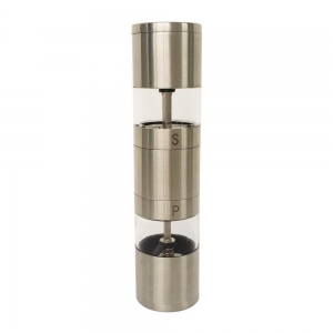 China 2 in 1 manual stainless steel salt pepper grinder on sale