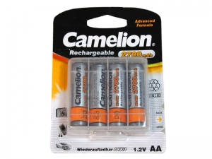 China Camelion Rechargeable Batteries AA, 2700mAh, Ni-MH, 4pcs on sale