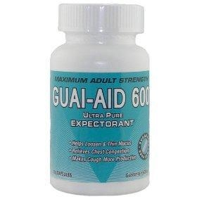 China Gelatin: guai-aid/600 guaifenesin 600 mg ultra pure expectorant (100 capsules) on sale