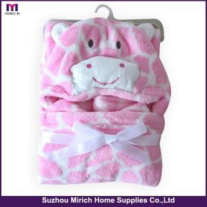 China Leopard Printing Bear Style Kids Cloak Blankets on sale