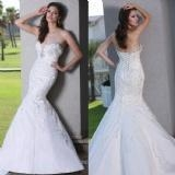 China WDWZ-051 $130 Half Sleeves Bow In Back Lace Wedding Dresses on sale