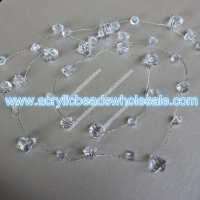 China 1M Faceted Crystal Waterdrop Beaded Branch Wire Cl--I024 on sale