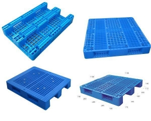 China 48x40 Inches Heavy Duty Nestable Warehouse Plastic Pallet on sale