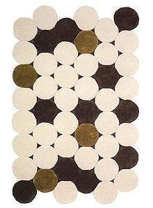 China Gandia Blasco Circulos Rug - Rectangular Rug with Circles - Beige on sale