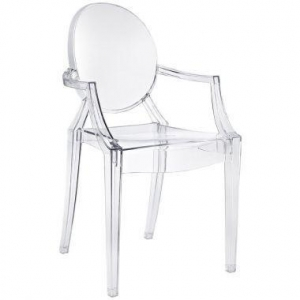 China Furniture Kartell Louis Ghost Modern Clear Dining Armchair by Philippe Starck on sale