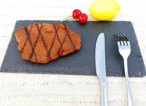 China Rectangle black slate plate JJSP-005 on sale