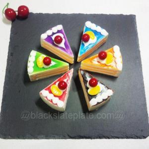 China Square black slate plate JJSP-002 on sale
