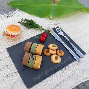 China Rectangle black slate cheese board JJSP-006 on sale