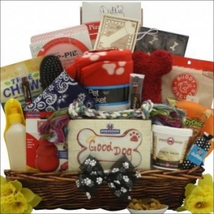 China Ultimate Doggy Gift Basket on sale