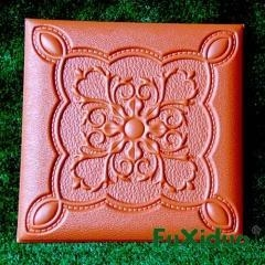 China Three dimensional interior design leather carved wall panel Item No.: JSF08 on sale