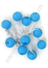 China Romantic Round Paper Ball String Lights , Outdoor Mini Lantern String Lights on sale