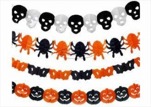 China CE Certificate Paper Halloween Decorations Pumpkin Diy Tissue Paper Garland on sale