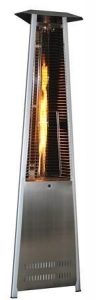 China Triangle Variable Flame Patio Heater in Stainless Steel Finish on sale