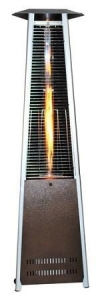 China Triangle Variable Flame Patio Heater with a Golden Hammered Finish on sale