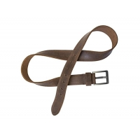double stitches leather belt for men