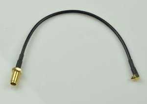 China Black 50 ohm RF Cable Assembly With SMA Female To MMCX Male Connector on sale