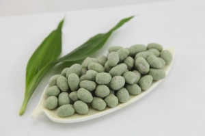 China Thai Wasabi Powdered Sugar PeanutsRound Green Color Health Certifiacted on sale