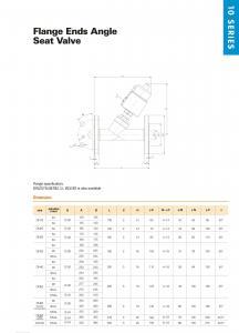 China 10 Series, Angle Seat Valve on sale