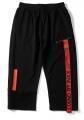China Soft Black Custom Jogger Sweatpants For Sports With Leg Print on sale