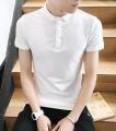 China Cotton spandex White Short Sleeve Half Sleeve Polo Shirt For Men on sale