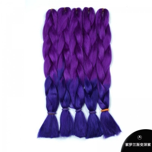 China 50 colors High Temperature Synthetic Hair Jumbo Braid Ombre Braiding Hair on sale