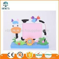 China DIY gifts wholesale EVA animal small picture frame on sale